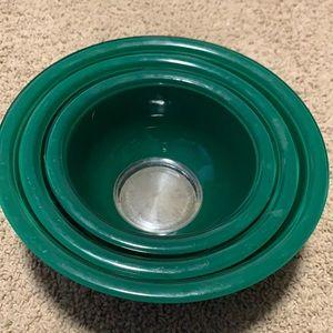 Pyrex Green Mixing Bowls